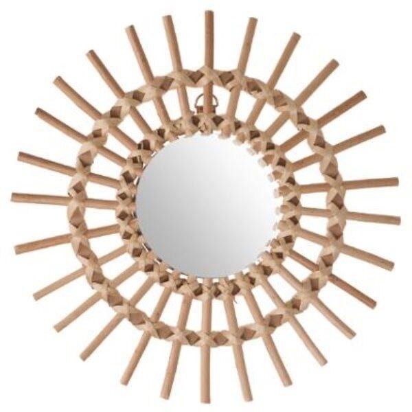 Miroir rotin soleil d30cm