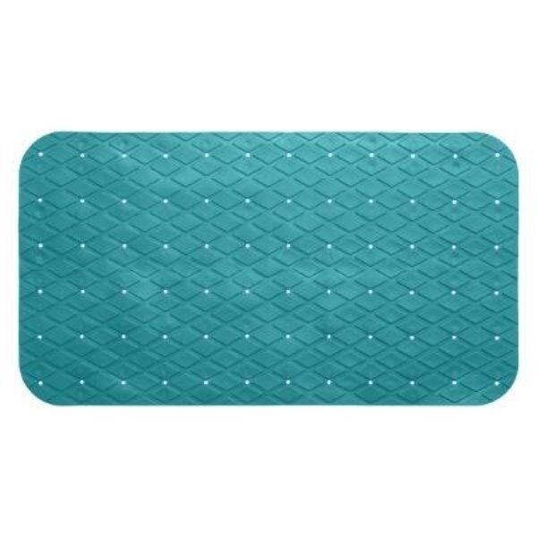 Fond de bain pvc turquoise 69x39cm