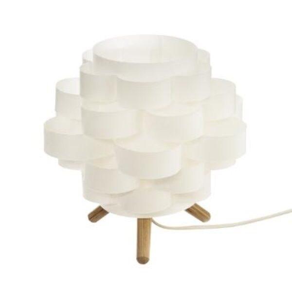 Lampe bambou papier h22 LYDIA