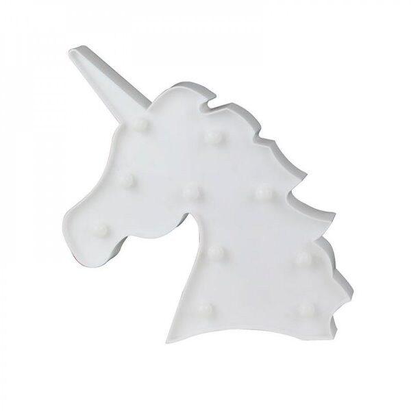 Lampe led deco licorne m12 blanc rose  - CDISTR